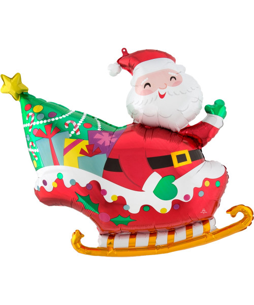 [Merry Christmas] Santa's Sleigh Foil Balloon (30inch)