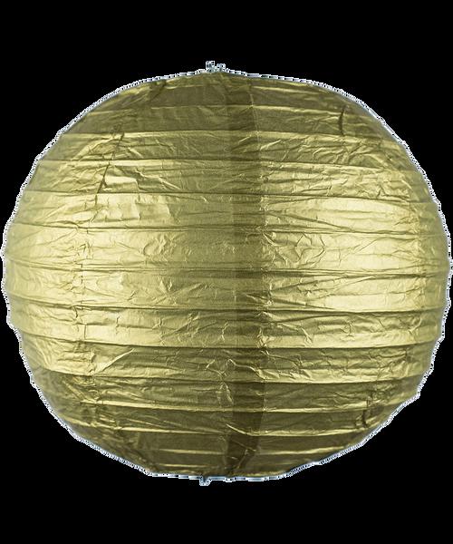 Paper Lantern (20cm) - Metallic Gold