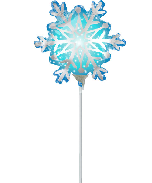 [Merry Christmas] Satin Snowflake Balloon with Stick (11inch)