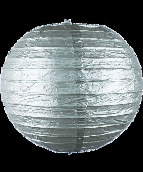 Paper Lantern (30cm) - Metallic Silver