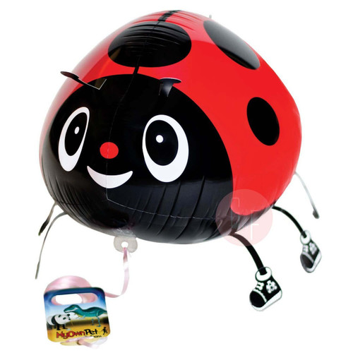 Walking Pet Balloon - Lady Bug: Helium Inflatable (optional)Walking Pet Balloon, ribbon is included. Walking Pet Balloon is made with high-quality mylar foil, welded seams and inflation valves are designed for long lasting fun.