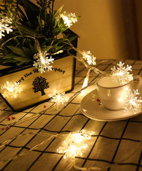 Snowflakes LED String Lights (3meter) - Warm