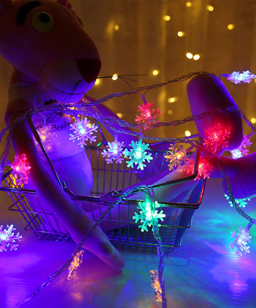 Snowflakes LED String Lights (3meter) - Colorful