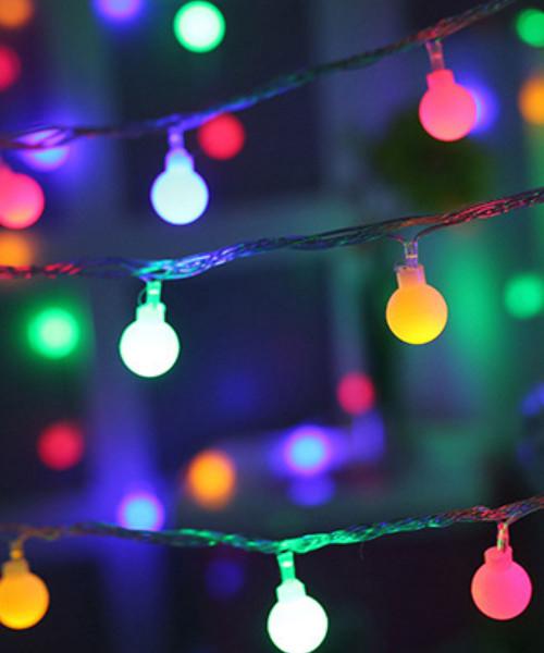 Bulbs LED String Lights (3meter) - Colorful