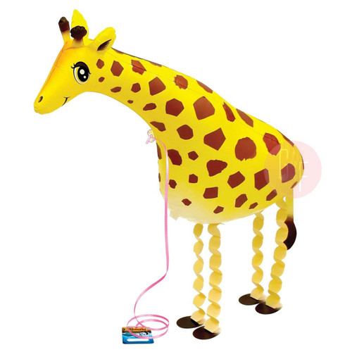 Walking Pet Balloon - Giraffe: Helium Inflatable (optional)Walking Pet Balloon, ribbon is included. Walking Pet Balloon is made with high-quality mylar foil, welded seams and inflation valves are designed for long lasting fun.