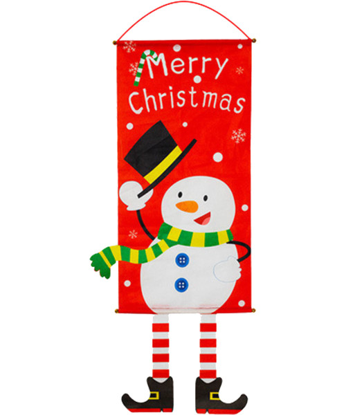 [Merry Christmas] Christmas Wall Hanging Banner (115cm) - Hats Off Snowman