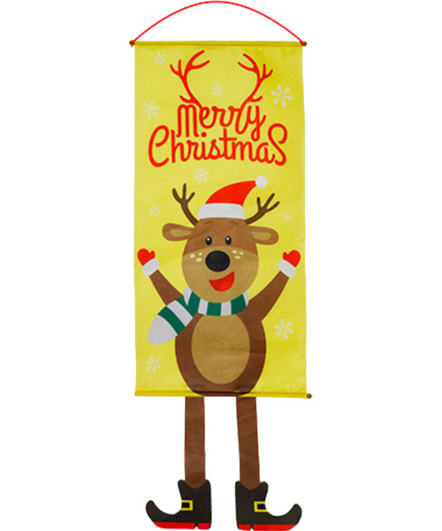 [Merry Christmas] Christmas Wall Hanging Banner (115cm) - Raving Reindeer