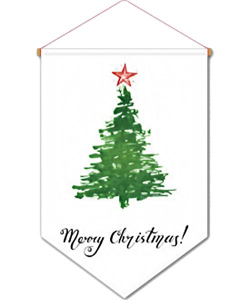 [Merry Christmas] Christmas Flag Banner (60cm) - Christmas Tree Nordic
