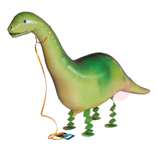 Walking Pet Balloon - Dinosaur: Helium Inflatable (optional)Walking Pet Balloon, ribbon is included. Walking Pet Balloon is made with high-quality mylar foil, welded seams and inflation valves are designed for long lasting fun.