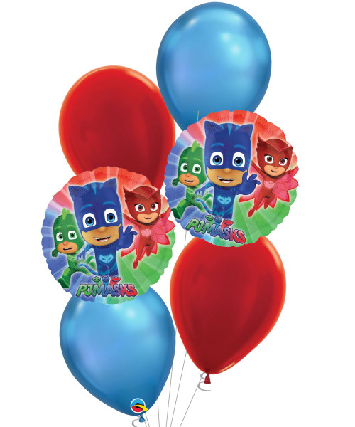 [PJ Masks] PJ Mask Chrome Blue Balloons Bouquet