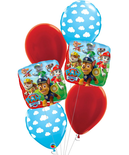 [Paw Patrol] Paw Patrol Cloud Balloons Bouquet