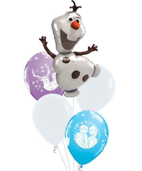 [Party: Frozen] Disney Frozen Olaf Balloons Bouquet