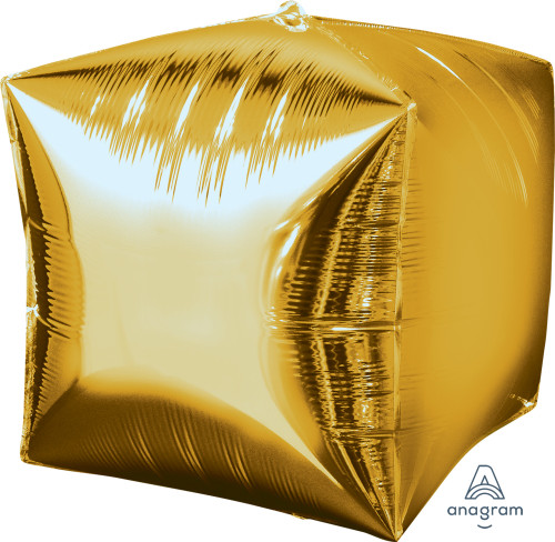 "[Cubez] 15""/38cm Cube Shaped Balloon - Gold"