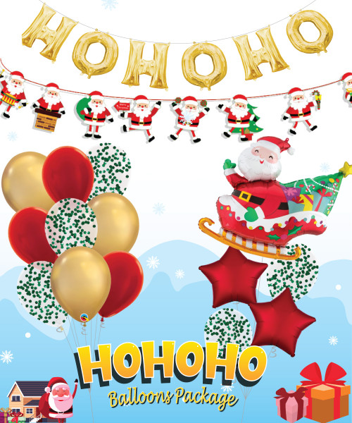 [Merry Christmas] Christmas Balloons Package - Hohoho