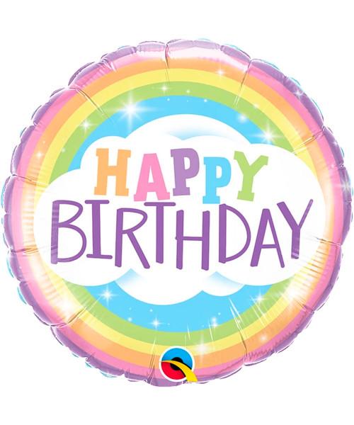 [Party] Birthday Rainbow Foil Balloon (18inch)