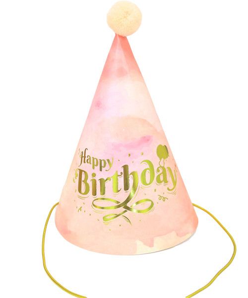 Happy Birthday Party Hat - Millennial Pink