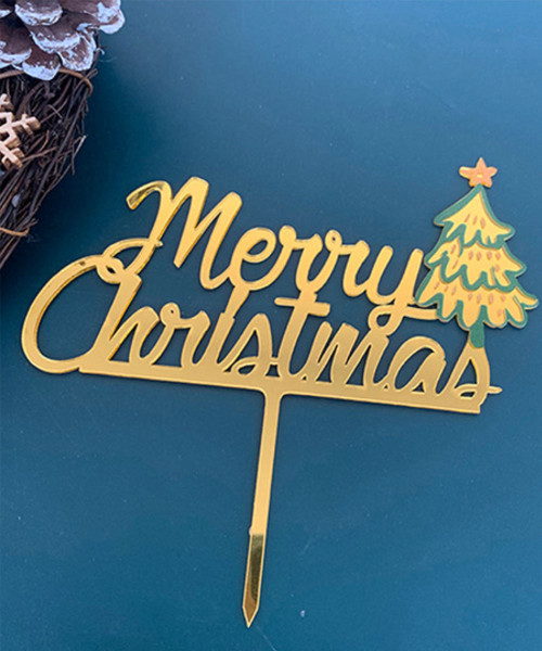[Merry Christmas] Christmas Cake Topper - Christmas Tree