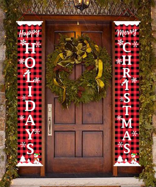 [Merry Christmas] Christmas Wall Hanging Banner (180cm) - Jingle Bells Christmas Holiday