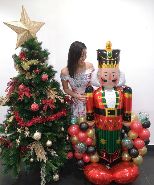 [Merry Christmas] Christmas Balloons Centerpiece - Nutcracker Greeter