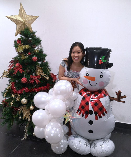 [Merry Christmas] Christmas Balloons Centerpiece - Snowman Greeter