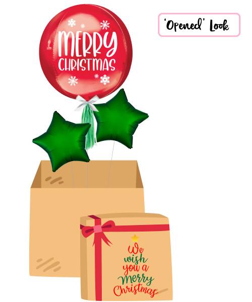 [Christmas Balloon Surprise Box] Merry Christmas Orbz Balloon Surprise Box