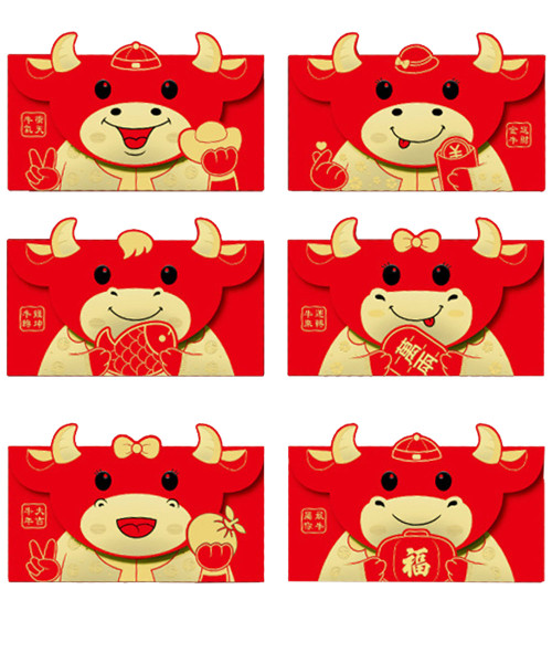 [CNY 2021] Year of Ox Red Packets (6 Designs) - Wishing Gold Ox