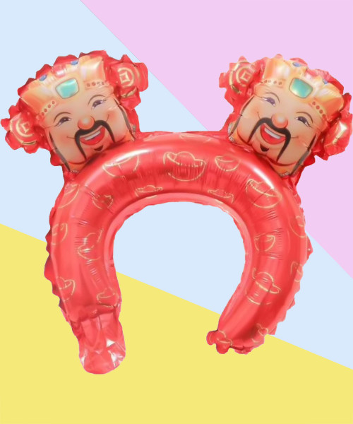 [CNY 2021] Trendy Chinese New Year Balloon Headband - God of Fortune
