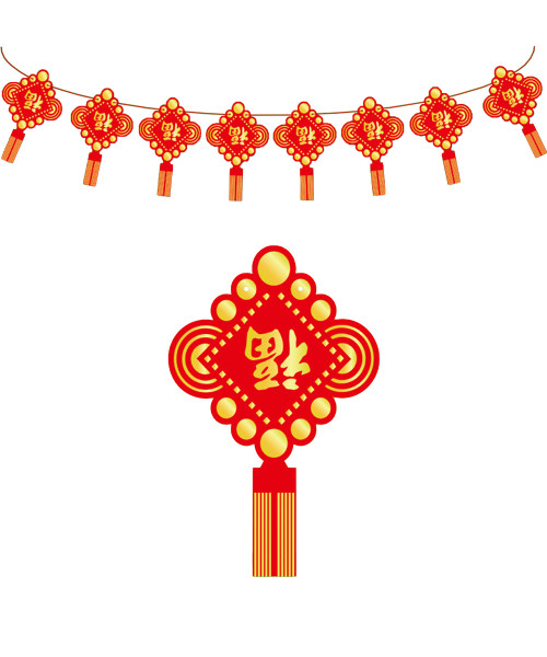 [CNY 2021] Chinese New Year Paper Bunting (3 Meter) - Blessing has arrived!