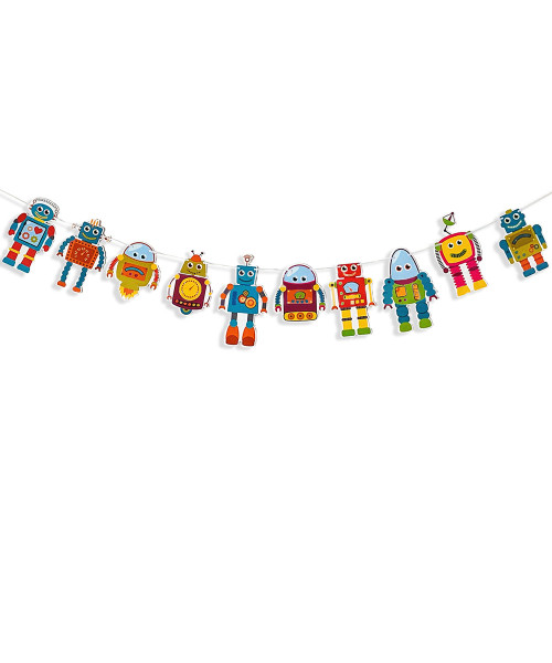 Party Decoration Bunting (2.5 meter) - Robots & Spaceships