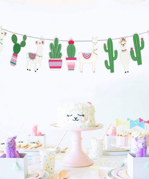 Party Decoration Bunting (2.5 meter) - Llama & Cactus
