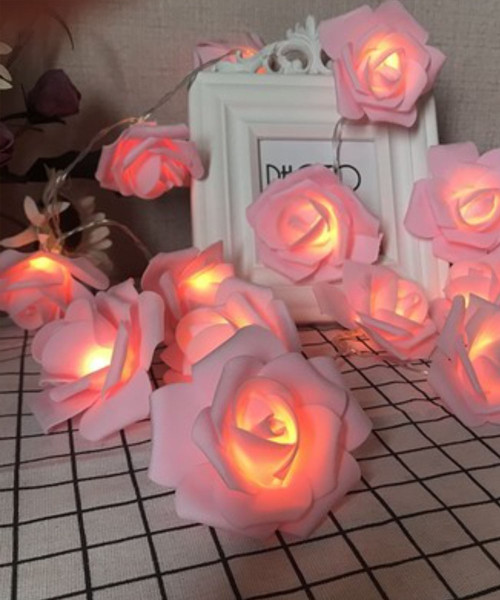 LED String Lights (3meter) - Fairy Pink Roses