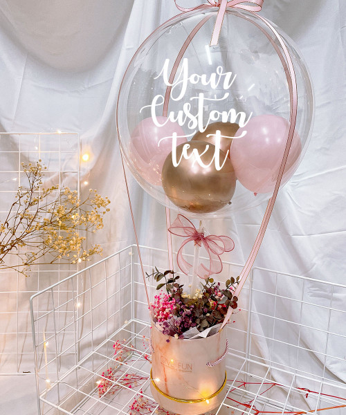 [Happy Valentine's Day] Personalised Balloons Bouquet Box (In-The-Air Series) - Love Is In The Air