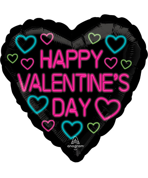 [Happy Valentine's Day] Neon Valentine Foil Balloon (18inch)