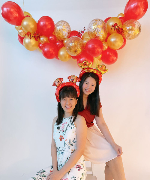 [CNY 2021] Chinese New Year Organic Balloon Garland (1.5m) - Happiness & Prosperity!