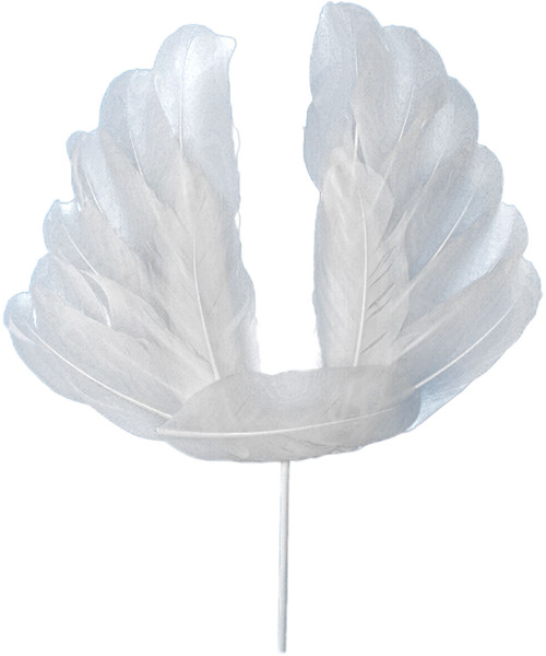 Angel Wings Cake Topper - White Feather