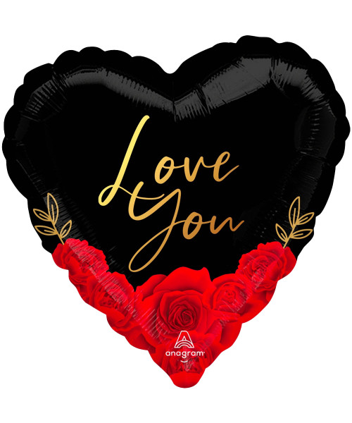 [Happy Valentine's Day] Love You Romantic Roses Foil Balloon (18inch)