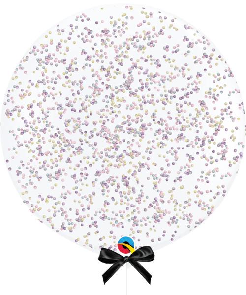 36'' Jumbo Perfectly Round Balloon - Marshmallow Sprinkles Pastel Rainbow