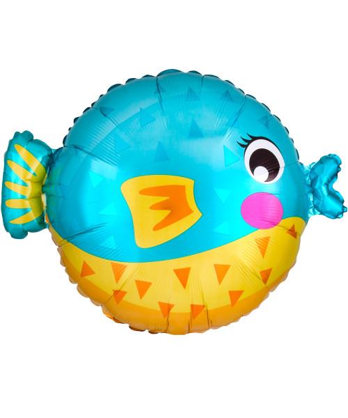 [Sea Creature] Bubbly Sea Creature Foil Balloon (19inch) - Puffer Fish (A41200)