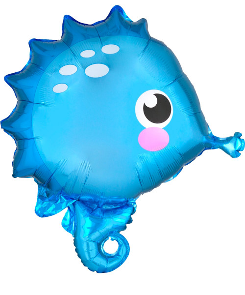 [Sea Creature] Bubbly Sea Creature Foil Balloon (21inch) - Seahorse (A41201)