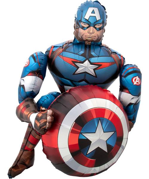 [Avengers Captain America] Jumbo Captain America Airwalker Balloon (39inch) (A40713 )
