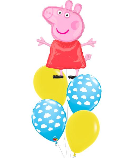 [Peppa Pig] Peppa Pig Clouds Latex Balloons Bouquet