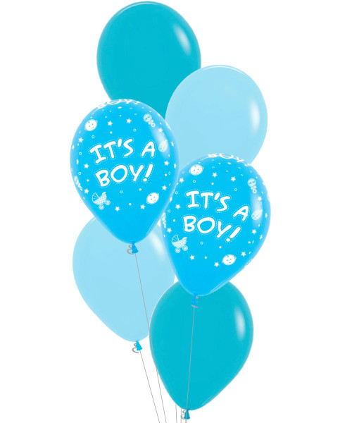 [Welcome, Little One!] It's A Boy Latex Balloons Bouquet