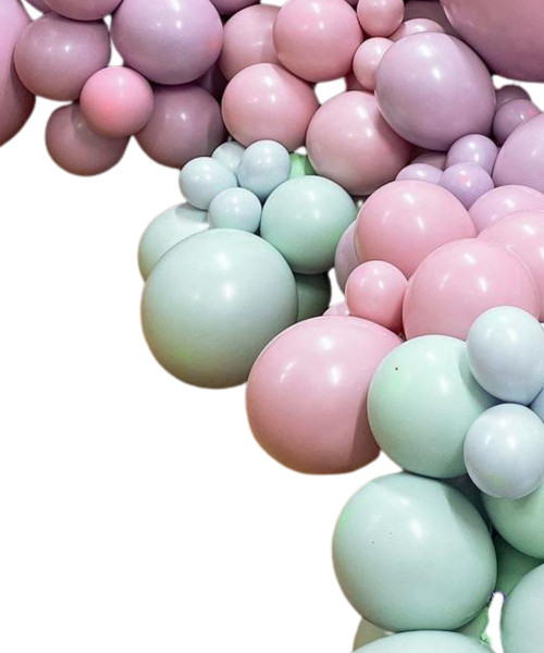 Create Your Own Chalk Matte Organic Balloon Garland
