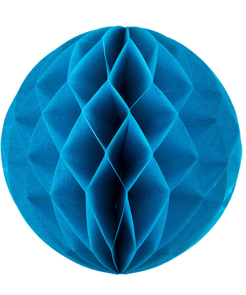 Paper Honeycomb Ball (25cm) - Sky Blue