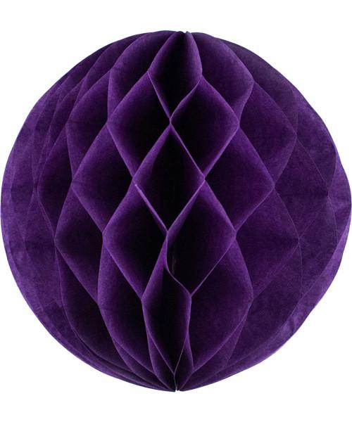 Paper Honeycomb Ball (25cm) - Dark Purple
