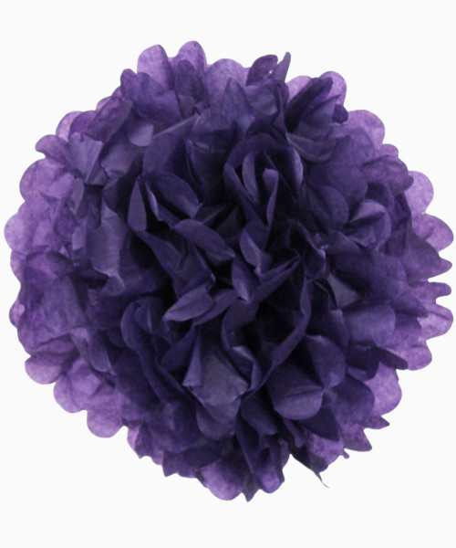 Paper Flower Pom Pom DIY Pack (15cm) - Lilac