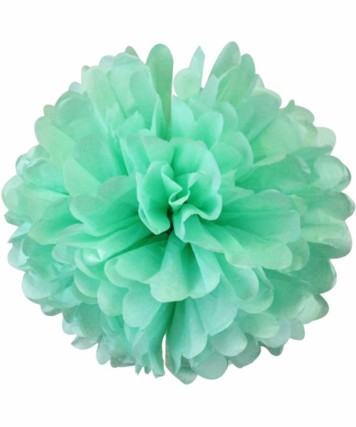Paper Flower Pom Pom DIY Pack (15cm) - Mint