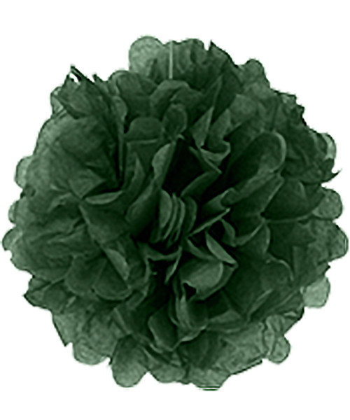 Paper Flower Pom Pom DIY Pack (15cm) - Dark Green