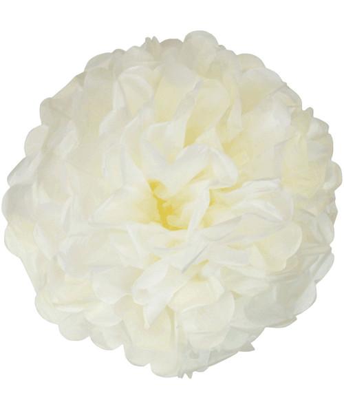 Paper Flower Pom Poms (25cm) - Cream
