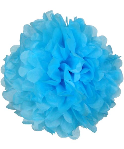 Paper Flower Pom Poms (25cm) - Sky Blue